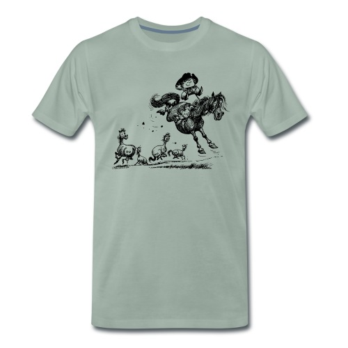 Thelwell Western Rodeo - Men's Premium T-Shirt