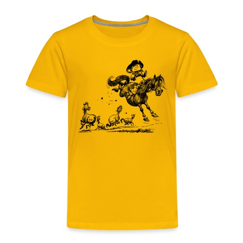 Thelwell Western Rodeo - Kids' Premium T-Shirt