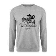 Hoodies & Sweatshirts ~ Men's Sweatshirt ~ Thelwell Cowboy with a skunk