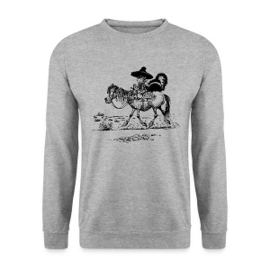 Thelwell Cowboy with a skunk - Men's Sweatshirt