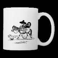 Mugs & Drinkware ~ Mug ~ Thelwell Cowboy with a skunk