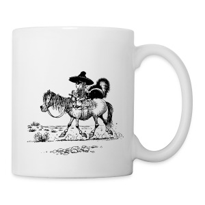 Thelwell Cowboy with a skunk - Mug