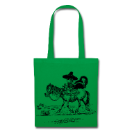 Bags & Backpacks ~ Tote Bag ~ Thelwell Cowboy with a skunk