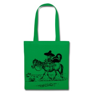 Thelwell Cowboy with a skunk - Tote Bag