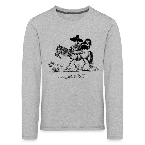 Thelwell Cowboy with a skunk - Kids' Premium Longsleeve Shirt