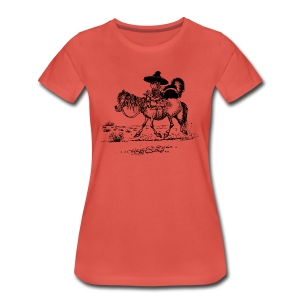 Thelwell Cowboy with a skunk - Women's Premium T-Shirt