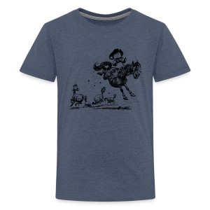 Thelwell Western Rodeo - Teenage Premium T-Shirt
