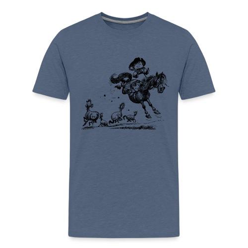 Thelwell Western Rodeo - Teenage Premium T-Shirt