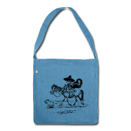 Bags & Backpacks ~ Shoulder Bag made from recycled material ~ Thelwell Cowboy with a skunk