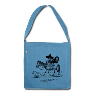 Thelwell Cowboy with a skunk - Shoulder Bag made from recycled material