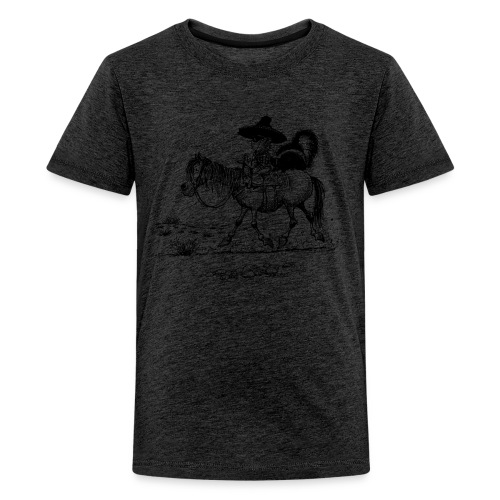 Thelwell Cowboy with a skunk - Teenage Premium T-Shirt