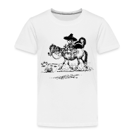 T-Shirts ~ Kinder Premium T-Shirt ~ Thelwell Cowboy with a skunk