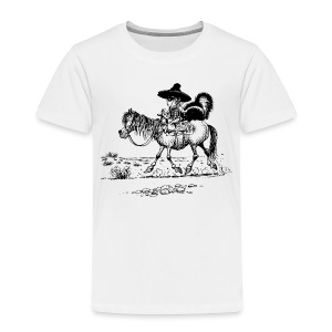 Thelwell Cowboy with a skunk - Kids' Premium T-Shirt