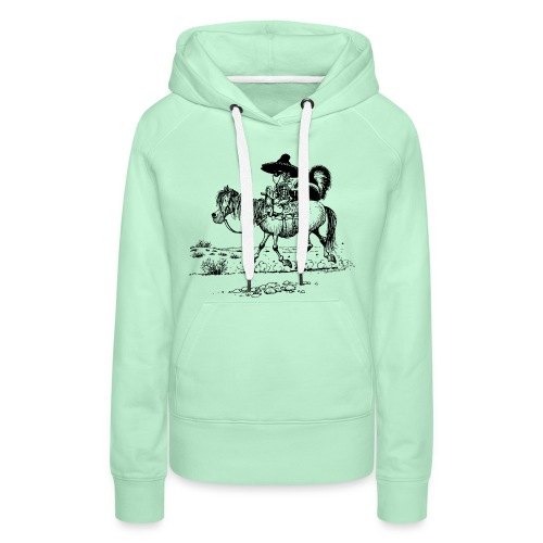 Thelwell Cowboy with a skunk - Women's Premium Hoodie