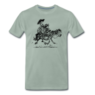 T-Shirts ~ Men's Premium T-Shirt ~ Thelwell Two cowboys with Ponies