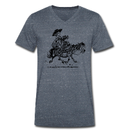 T-Shirts ~ Men's V-Neck T-Shirt ~ Thelwell Two cowboys with Ponies