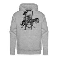 Hoodies & Sweatshirts ~ Men's Premium Hoodie ~ Thelwell Two cowboys with Ponies