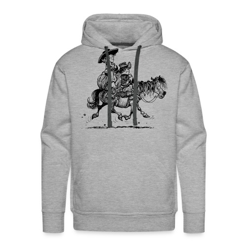 Thelwell Two cowboys with Ponies - Men's Premium Hoodie
