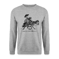Hoodies & Sweatshirts ~ Men's Sweatshirt ~ Thelwell Two cowboys with Ponies