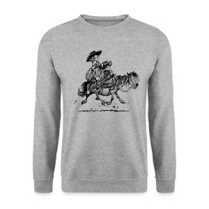Thelwell Two cowboys with Ponies - Men's Sweatshirt