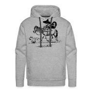 Hoodies & Sweatshirts ~ Men's Premium Hoodie ~ Thelwell Cowboy with a skunk