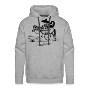 Thelwell Cowboy with a skunk - Men's Premium Hoodie