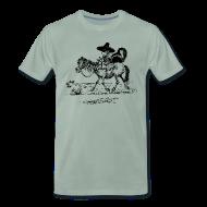 T-Shirts ~ Männer Premium T-Shirt ~ Thelwell Cowboy with a skunk