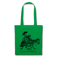 Bags & Backpacks ~ Tote Bag ~ Thelwell Two cowboys with Ponies