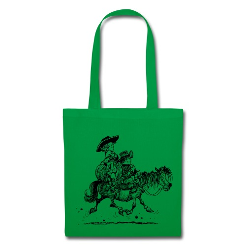 Thelwell Two cowboys with Ponies - Tote Bag