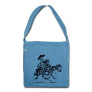 Bags & Backpacks ~ Shoulder Bag made from recycled material ~ Thelwell Two cowboys with Ponies