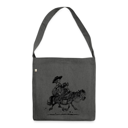 Thelwell Two cowboys with Ponies - Shoulder Bag made from recycled material