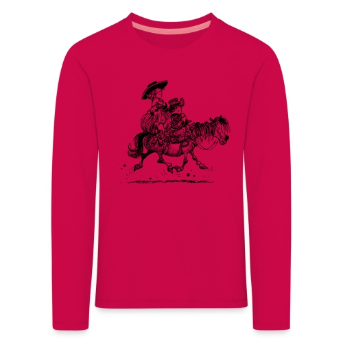 Thelwell Two cowboys with Ponies - Kids' Premium Longsleeve Shirt