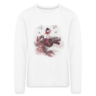 Long Sleeve Shirts ~ Kids' Premium Longsleeve Shirt ~ Thelwell Pony outside in the nature
