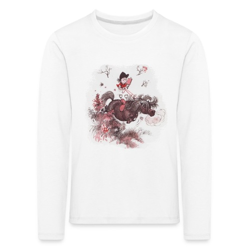 Thelwell Pony outside in the nature - Kids' Premium Longsleeve Shirt