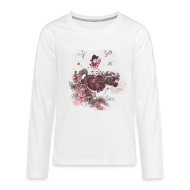 Long Sleeve Shirts ~ Teenagers' Premium Longsleeve Shirt ~ Thelwell Pony outside in the nature