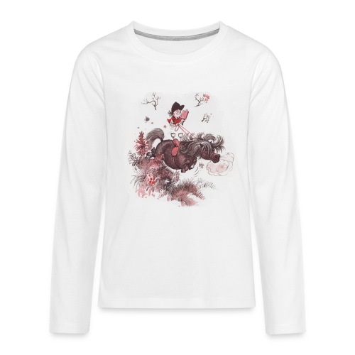 Thelwell Pony outside in the nature - Teenagers' Premium Longsleeve Shirt