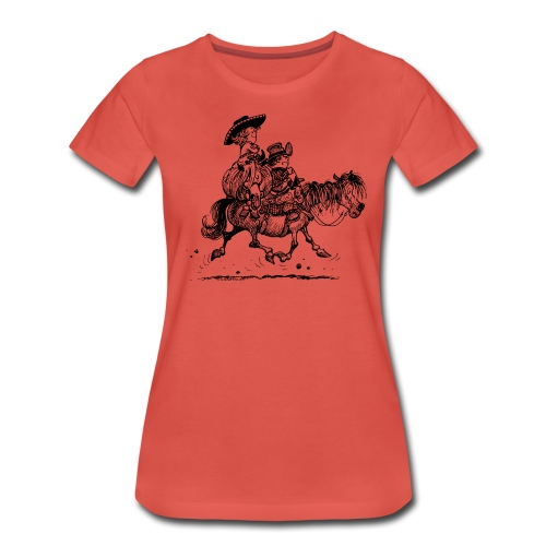 Thelwell Two cowboys with Ponies - Women's Premium T-Shirt