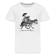 Shirts ~ Teenage Premium T-Shirt ~ Thelwell Two cowboys with Ponies