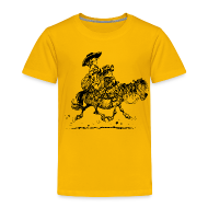 T-Shirts ~ Kinder Premium T-Shirt ~ Thelwell Two cowboys with Ponies