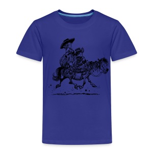 Thelwell Two cowboys with Ponies - Kinder Premium T-Shirt