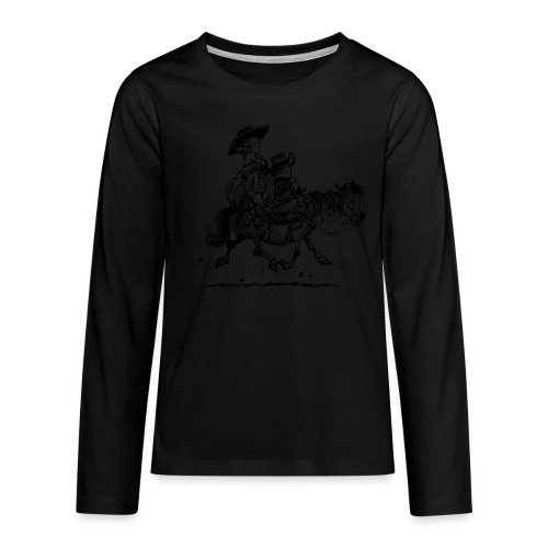 Thelwell Two cowboys with Ponies - Teenagers' Premium Longsleeve Shirt