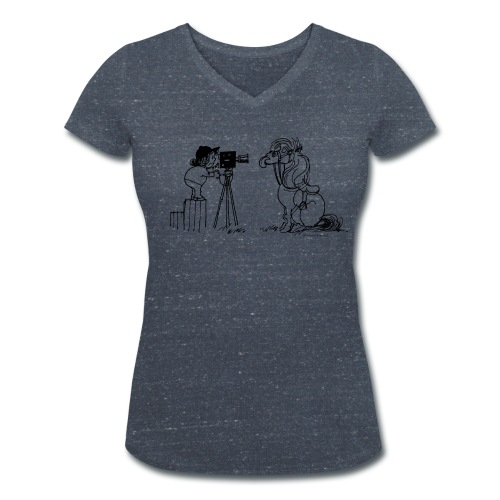 Thelwell Pony Fotoshooting Say cheese - Women's V-Neck T-Shirt