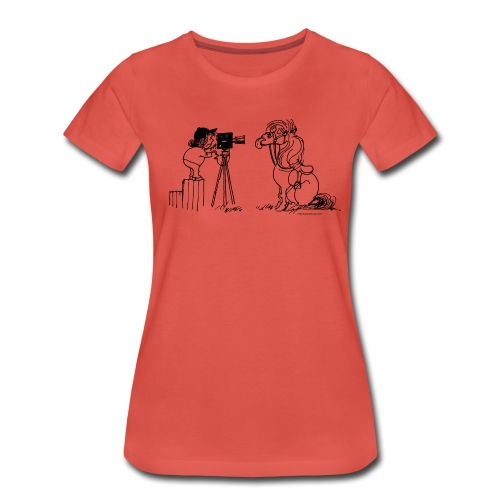 Thelwell Pony Fotoshooting Say cheese - Women's Premium T-Shirt
