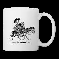 Mugs & Drinkware ~ Mug ~ Thelwell Two cowboys with Ponies