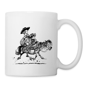Thelwell Two cowboys with Ponies - Mug
