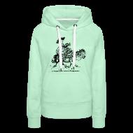 Hoodies & Sweatshirts ~ Women's Premium Hoodie ~ Thelwell Two cowboys with Ponies