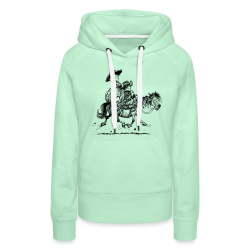 Thelwell Two cowboys with Ponies - Women's Premium Hoodie