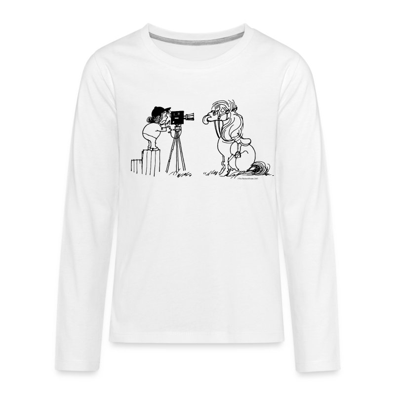 Thelwell Pony Fotoshooting Say cheese - Teenagers' Premium Longsleeve Shirt