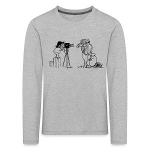 Thelwell Pony Fotoshooting Say cheese - Kids' Premium Longsleeve Shirt