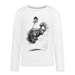 Thelwell Pony leap-frog - Teenagers' Premium Longsleeve Shirt